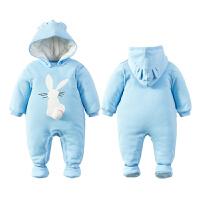 婴儿童连体衣服0岁3个月宝宝新生儿冬季冬装棉衣哈衣季装