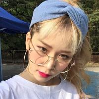 张大奕同款韩版复古眼镜框女金属方框眼镜男近视眼镜架平光眼镜女