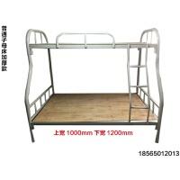 加厚员工宿舍双层铁床工地上下铺高低铁架子床学生公寓铁艺单人床 其他 1.2米以下