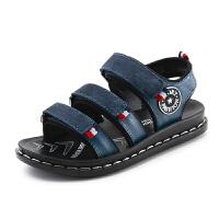 童鞋夏季儿童沙滩凉鞋牛皮软底中大童男童凉鞋