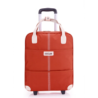 女士手提折叠拉杆箱收纳包小布袋 旅行容量行李包衣服收纳袋 橘色 单包版