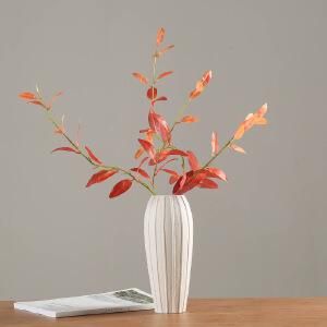 花瓶 简约现代摆件白陶瓷创意家居客厅陶瓷工艺品白色陶瓷花瓶