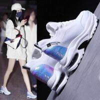 内增高运动鞋女韩版时尚老爹鞋女户外百搭厚底小白鞋