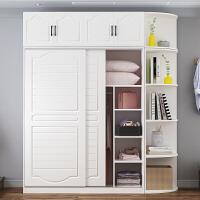 【满减优惠】衣柜现代简约实木质推拉门衣柜家用卧室儿童衣柜简易板式出租房用