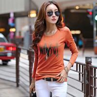 长袖体恤女秋新款打底衫上装修身显瘦棉质T恤韩版女装上衣