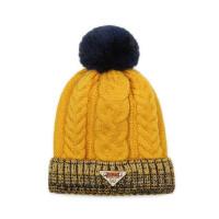 户外运动 儿童保暖毛线帽韩版大毛球针织帽男女孩护耳帽防寒