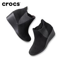 【下单立减120】Crocs卡骆驰女靴 蕾丽切尔西高跟短筒休闲女靴|205338 蕾丽切尔西高跟靴