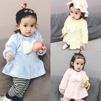 婴儿衣服季1岁6个月宝宝裙子新生儿连衣裙童公主裙冬装新年