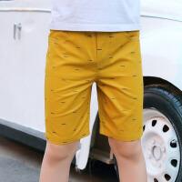 儿童短裤 男童薄款宽松运动中裤子夏季韩版新款时尚休闲中大童休闲五分裤