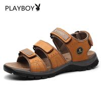 【夏季新款】花花公子男鞋手工凉鞋男士夏季时尚休闲透气沙滩鞋 德-CX39638