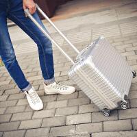 拉杆箱18寸行李箱小型登机箱包商务铝框男女密码17旅行硬箱 18寸【收藏后下单 买一送八】