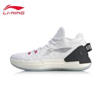 李宁篮球鞋男鞋驭帅 XIII LOW回弹一体织2019新款男士中帮运动鞋ABAP095