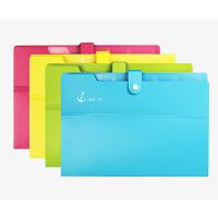 树德Y3068 文件夹风琴包A4插页文件袋多层试卷夹资料袋收纳夹6层
