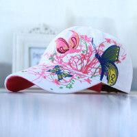 帽子女韩版百搭白色潮人棒球帽出游民族风女士遮阳帽鸭舌帽