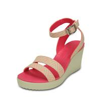 【限时秒杀】Crocs卡骆驰蕾丽花漾花纹坡跟二代高跟鞋凉鞋女鞋|15313蕾丽花漾花纹坡跟二代高跟鞋