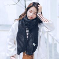 加厚长款仿羊绒披肩两用学生针织围脖韩版毛线围巾男女