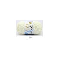 宝宝毛线5股牛奶棉中粗毛线线手编钩针线围巾线v 乳白色 01