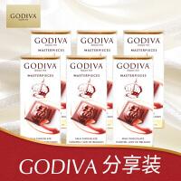 GODIVA歌帝梵 焦糖味牛奶巧克力制品片(6片/组)
