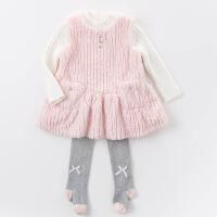 davebella戴维贝拉冬季女童连衣裙 女宝背心裙DB5939