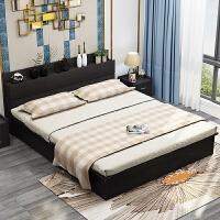 床 �F代��s1.8米��木主�P�p人床1.5m榻榻米床�稳私���型出租房床