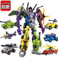 变形金刚拼接拼装玩具积木组装机器人3-6周智力10岁男孩益智wanju