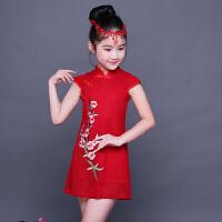 女童旗袍夏季儿童唐装连衣裙宝宝小女孩中国风童装公主裙