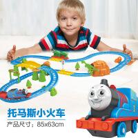 童励托马斯轨道车小火车拼装儿童玩具车电动火车赛车益智玩具