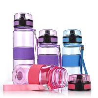 ���w塑料杯便�y男女�\�铀�瓶防漏�W生直�杯��x子水杯子500ML�\�与S手杯子小�W生�和�水�� 紫色