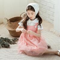 女童洋气春装2018新款裙子韩版儿童公主吊带纱裙中大童夏装连衣裙