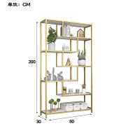 简约现代实木书架置物架落地创意书柜组合书房客厅隔板收纳架子