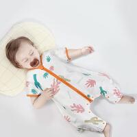 babycare婴儿睡袋 纯棉分腿儿童纱布睡袋幼儿宝宝睡袋防踢被【