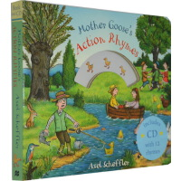 鹅妈妈童谣英文原版 Mother Goose's Action Rhymes 纸板书附CD Axel Scheffle