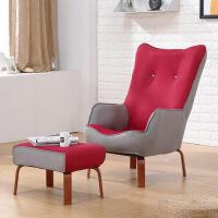 卧室单人小沙发阳台靠背椅喂奶椅看书休闲座椅现代简约懒人沙发椅