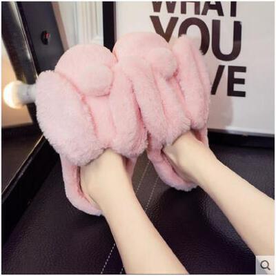 拖鞋女冬季可爱情侣家居家用室内防滑保暖男士包跟卡通毛毛棉拖鞋