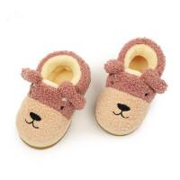 儿童户外运动保暖家居鞋卡通拖鞋男女宝宝加绒鞋子小孩包跟棉鞋
