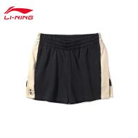 李宁迪士尼授权系列功夫米笈短卫裤女士2020新款夏季休闲运动裤