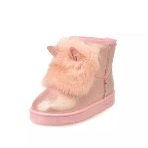 O'SHELL法国欧希尔新品冬季165-1826韩版超纤皮平跟女士雪地靴