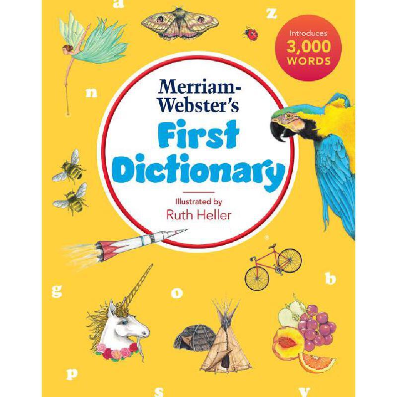 【中商原版】麦林韦氏儿童初级插图字典 英文原版 Merriam Webster's first dictionary 图画字典 儿童词典 6-12岁