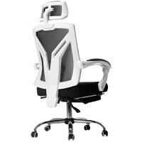 星际老 黑白调电脑椅 转椅竞技游戏椅电竞椅HDNY115 钢制脚 固定扶手