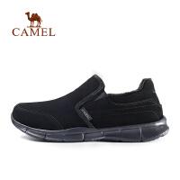 camel骆驼户外休闲男鞋 秋冬男款保暖舒适反绒牛皮休闲鞋