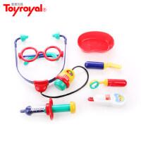 皇室Toyroyal女孩小医生玩具套装儿童过家家听诊器打针医药箱