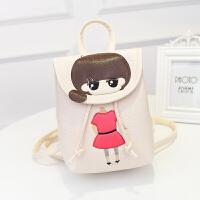 韩版儿童书包萌小希卡通背包可爱旅游双肩包PU皮小学生女孩包包