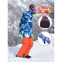 儿童滑雪服套装冬防风保暖滑雪衣裤子男童女童雪乡保暖棉新品