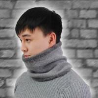 保暖加绒加厚韩版年轻人户外骑行防风围脖男士冬季毛线脖套