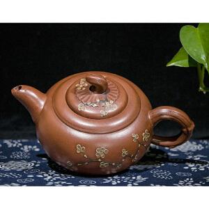 C1090近代《紫砂壶》(此壶包浆丰润,壶型规整,质地细腻坚密。底款未识别。)