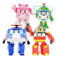超级飞侠 新款升级韩国变形警车珀利机器人套装波利变型警察儿童玩具