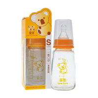喜多婴儿奶瓶 标准口径玻璃奶瓶120ML 宝宝奶瓶 配S小圆孔奶嘴