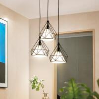 简约现代酒吧台吊灯卧室餐厅三头过道吊灯工业风北欧个性创意灯具
