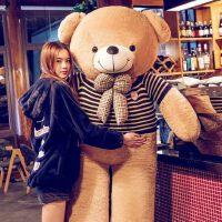 泰迪熊公仔毛绒玩具熊可爱1.6布娃娃睡觉抱送女友1.8米大抱熊女孩