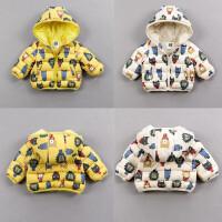 婴幼儿棉袄宝宝冬季外套 保暖加厚外出服0-1-2岁拉链上衣连帽新款
